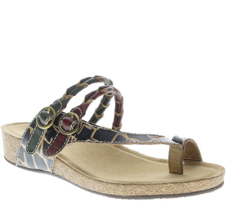 Spring Step L'Artiste Leather Slide Sandals - Snall