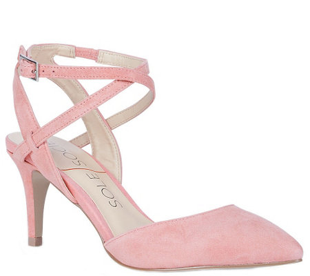 Sole Society Ankle Strap Pumps - Lana