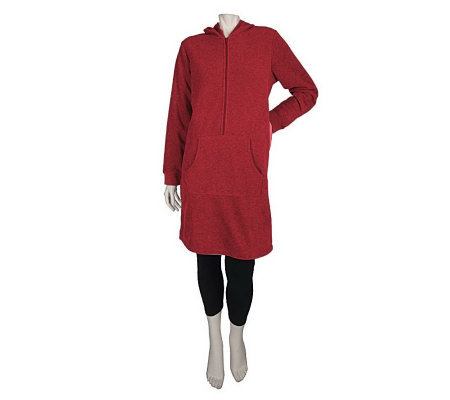 Carole Hochman Hooded Tunic & Capri Length Leggings Lounge Set