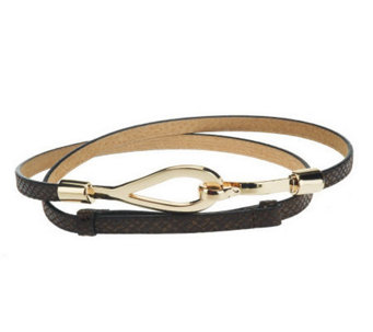 "Amiee Lynn 1/2"" Skinny Adjustable Hook Belt - A188350"