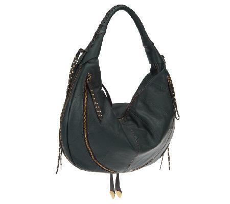 orYANY Leather Jasmine Multi-Zipper Hobo Bag - Page 1 — QVC.com
