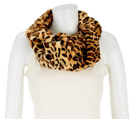 make fur and pin this lined warm to infinity faux cozy scarf learn