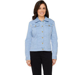 Linea by Louis Dell'Olio Button Detail Denim Jacket w/ Seam Detail - A232350
