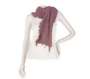 """As Is"" Accessory Network Textured Multi- Ruffle Scarf - A233050"