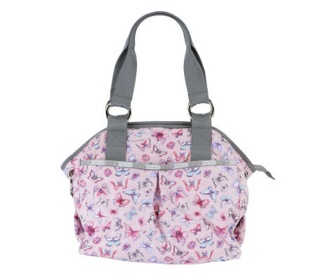 LeSportsac Printed Nylon Embroidered Jetsetter Satchel