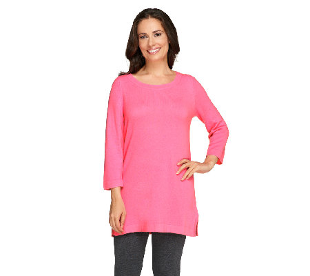 Isaac Mizrahi Live! 2-Ply Cashmere Ballet Neck Tunic