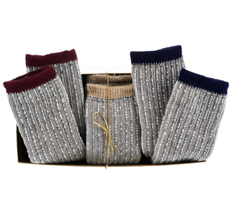 Catawba Set of 3 Merino Wool Blend Socks w/Gift Box