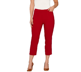 Susan Graver Ultra Stretch Pull-on Crop Pants with Pockets - A252350