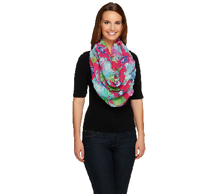 Joan Rivers Vintage Rose Infinity Scarf