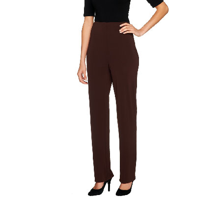 Susan Graver Regular Premier Knit Straight Leg Pants