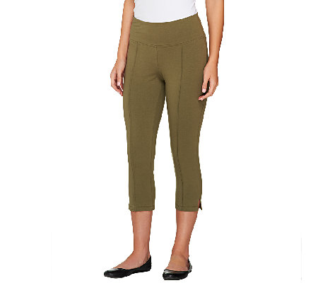 Denim & Co. Active Duo-Stretch Capri w/ Pintucks