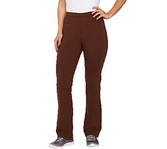 Denim & Co. Active Duo Stretch Slightly Bootcut Pants - A266850