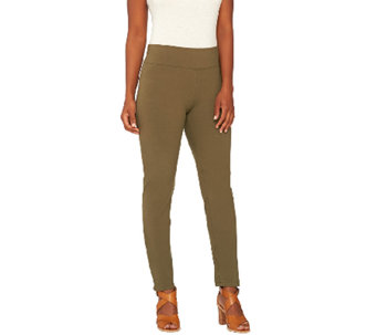 Women with Control Petite Pull-On Straight Leg Knit Pants - A267250