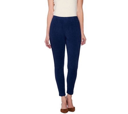 Isaac Mizrahi Live! Moleskin Leggings with Seam Detail