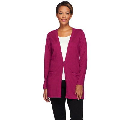 Joan Rivers Cashmere Blend Boyfriend Cardigan