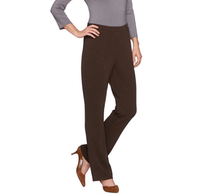 Susan Graver Passport Knit Comfort Waist Boot Cut Pull-On Pants