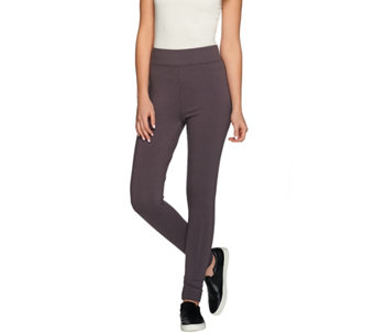 LOGO by Lori Goldstein Regular Knit Pants with Ruching Detail - A272850
