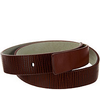 H by Halston Lizard Embossed Leather Belt - A277350