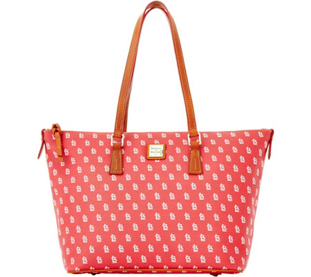 Dooney & Bourke MLB Cardinals Zip Top Shopper