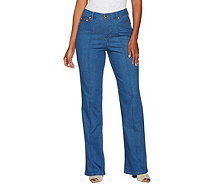 C. Wonder Regular Boot Cut Jeans with Seaming Detail - A281450