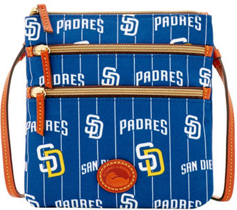 Dooney & Bourke MLB Nylon Padres Triple Zip Crossbody - A281550