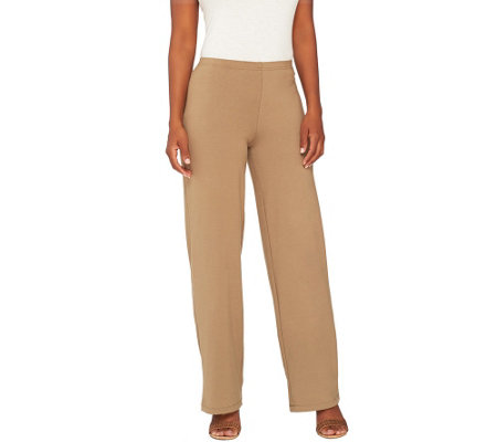"""As Is"" Women with Control Petite Pull-On Wide Leg Knit Pants"