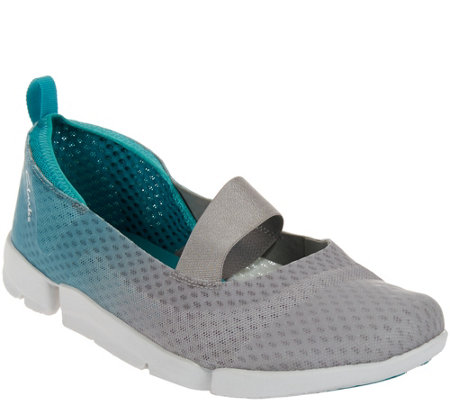 """As Is"" Clarks Outdoor Cross Strap Slip-on Sneakers - Tri Skipp"