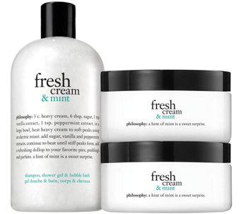 philosophy fresh cream & mint shower gel and souffle duo - A286450