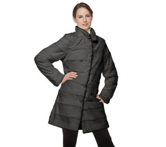 """As Is"" Dennis Basso Stand Collar Faux Fur Coat with Front Pockets - A286650"