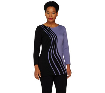 """As Is"" Project Runway Swirl Embroidered Tunic by Dmitry Sholokhov - A287250"