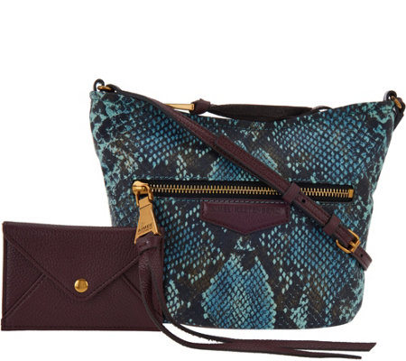 """As Is"" Aimee Kestenberg Leather Crossbody & RFID Pouch"