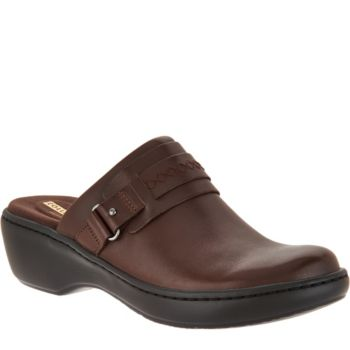Clarks Leather Lightweight Slip-on Clogs - Delana Amber