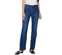 Susan Graver Regular Stretch Denim Mini Boot Cut Jeans - A294950