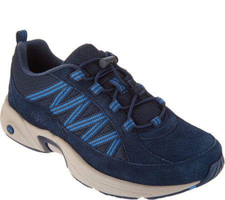 Ryka Suede Bungee Hiking Sneakers - Catalyst Trail
