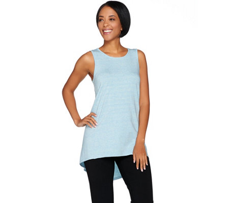 """As Is"" AnyBody Loungewear Cozy Knit Split Back Tank Top"