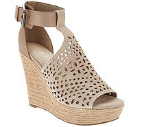 Marc Fisher Perforated Suede Wedges -Hasina - A303050