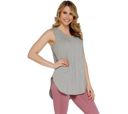 AnyBody Loungewear Cozy Knit Side Split Tank Top