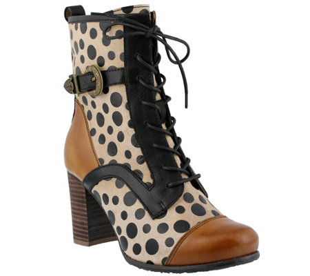 Spring Step L'Artiste Leather Ankle Boots - Blossom