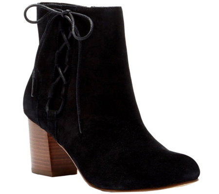 Sole Society Leather Lace-up Ankle Boots - Renzo