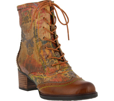 Spring Step L'Artiste Leather Lace Up Boots - Lorita