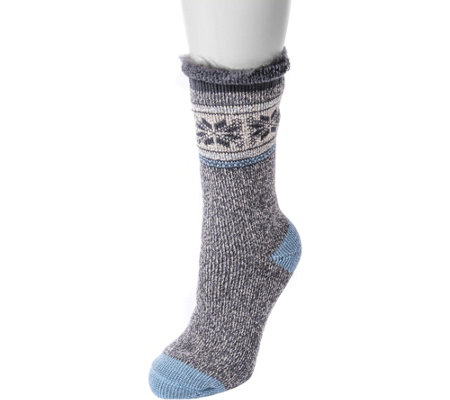MUK LUKS Women's One-Pair Heat Retainer ThermalSocks