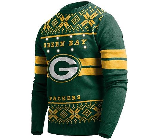 NFL LED Lighted Ugly Sweater - QVC.com