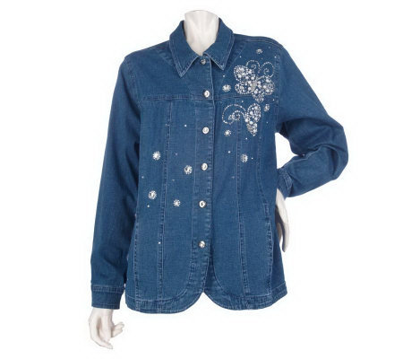 Quacker Factory Sparkle & Shine Motif Jeanne Jacket