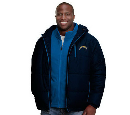 NFL Pro Line Men's 3-in-1 Jacket & Fleece Combo Set