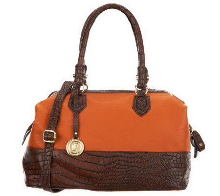 London Fog Norton Frame Satchel with Convertible Strap