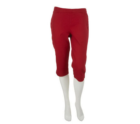 Liz Claiborne New York Hepburn Regular Pull-On Capris