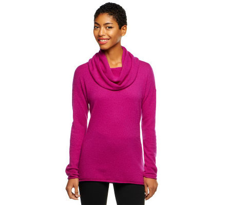 Isaac Mizrahi Live! 2-Ply Cashmere Cowl Neck Tunic