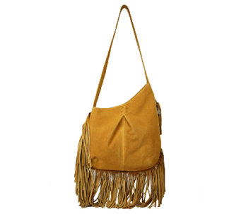 Muxo by Camila Alves Leather & Suede Asymmetrical Hobo Bag - A237451