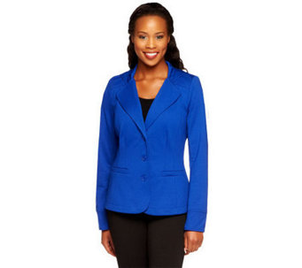 Linea by Louis Dell'Olio Ponte Knit Blazer with Hood - A237551