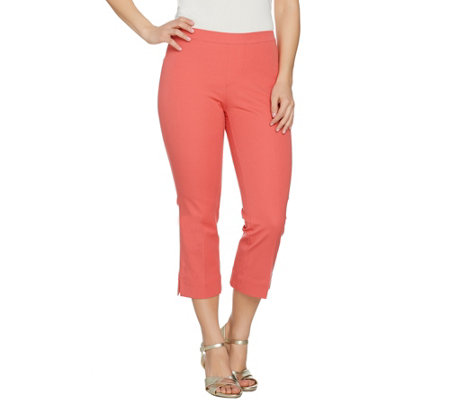 Isaac Mizrahi Live! 24/7 Stretch Regular Pull-On Crop Pants